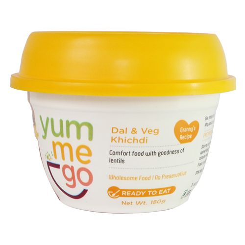 YumMeGo Ready To Eat - Dal & Veg Khichdi, 180 gm