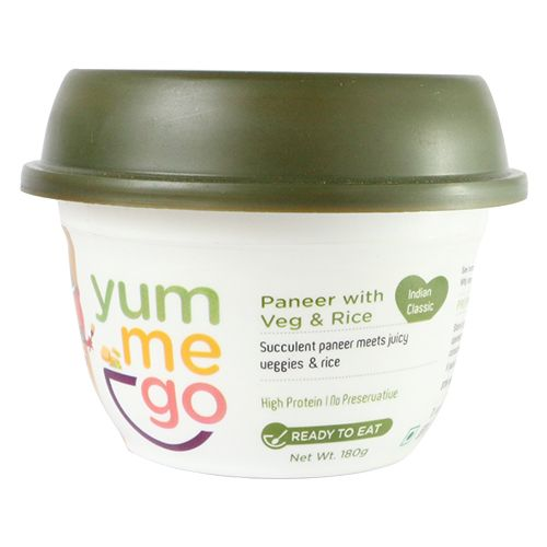 YumMeGo Ready To Eat - Paneer with Veg & Rice, 180 gm