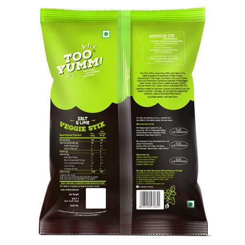 Too Yumm! Veggie Stix - Salt N Lime, 28 gm