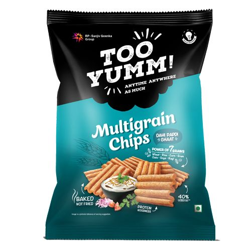 Too Yumm! Multigrain Chips - Dahi Papdi Chaat, 28 gm