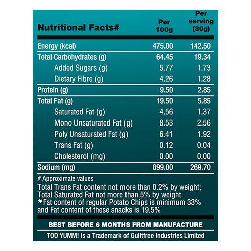 Too Yumm! Multigrain Chips - Dahi Papdi Chaat, 54 gm