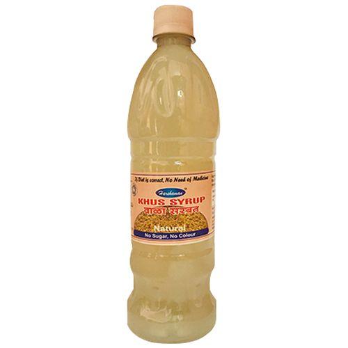 Harshaman Khus Syrup - Natural, No Sugar & No Colour, 700 ml