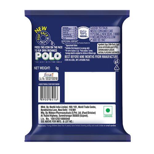 Polo Breath Mint - The Mint With The Hole, 9 gm