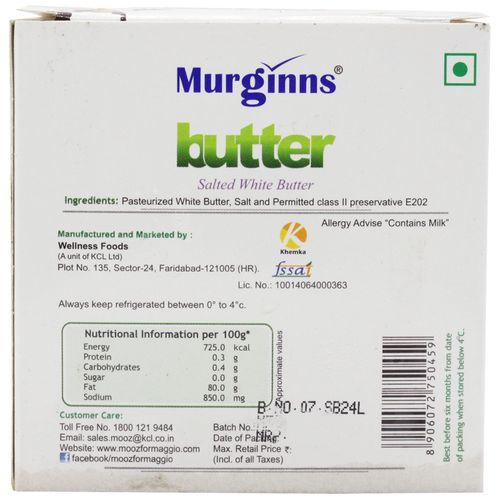 Murginns Butter Salted White, 150 gm