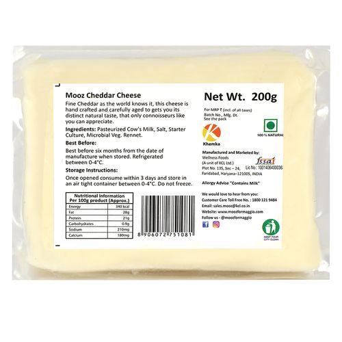 MOOZ Cheddar Cheese, 200 gm