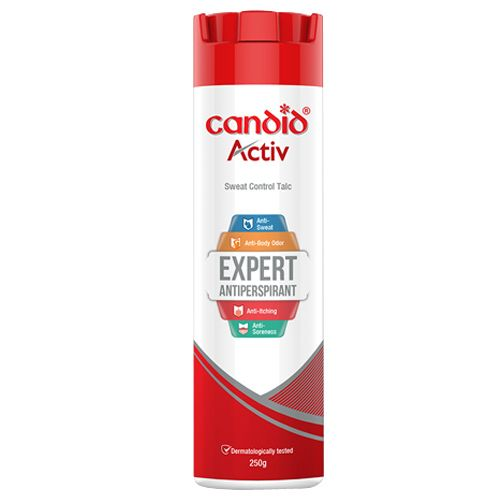 Candid Sweat Control Talc - Activ, 250 gm