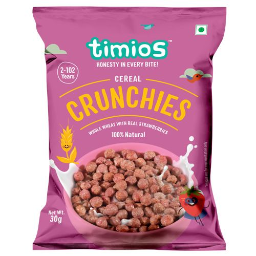 Timios Breakfast Cereals - Crunchies, 100% Natural & Healthy, 30 gm
