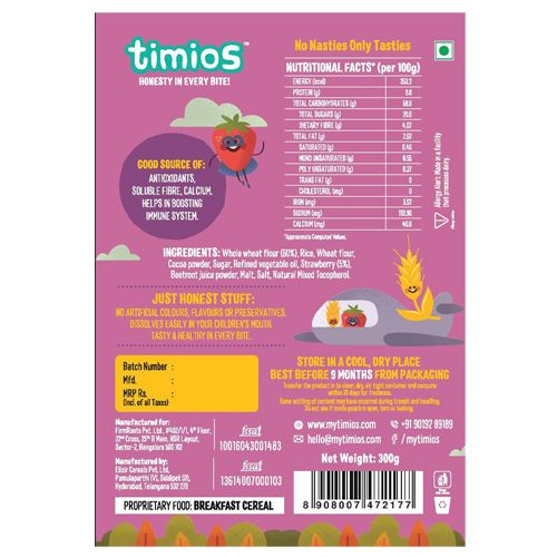 Timios Breakfast Cereals - Crunchies, 100% Natural & Healthy, 300 gm