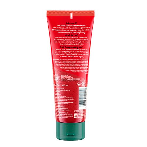 Himalaya Fresh Start Oil Clear Strawberry Face Wash, 100 ml