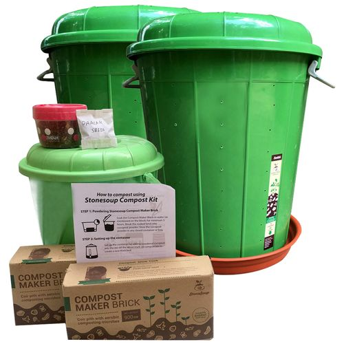 Stonesoup Compost Kit - Manjhli Twin Kit, 30 L