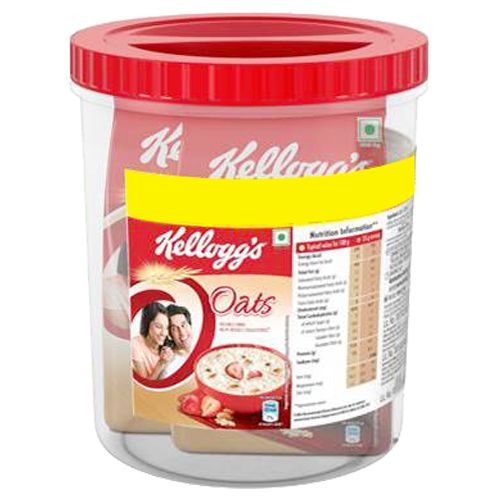Kelloggs Oats - With Free Container, 500 gm Pack of 2