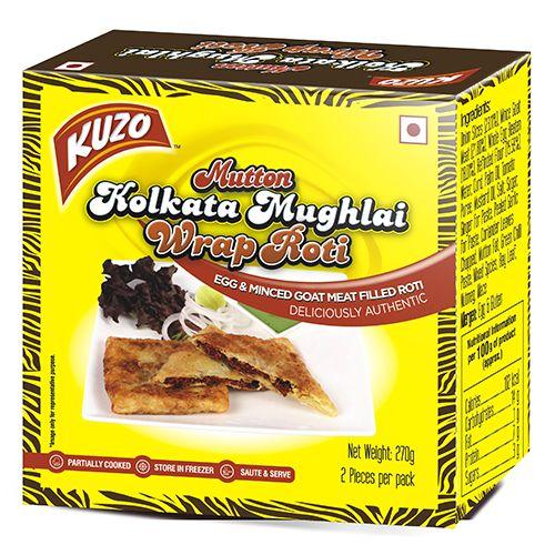KUZO Wrap Roti - Mutton Kolkata Mughlai, 270 gm