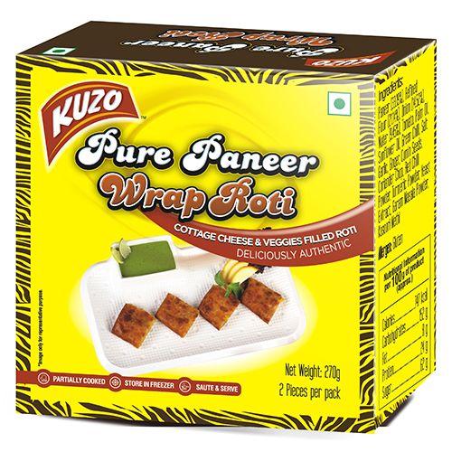 KUZO Wrap Roti - Pure Paneer, 270 gm