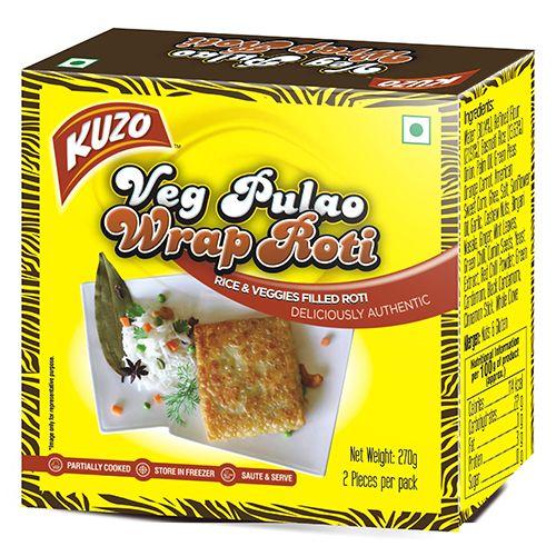 KUZO Wrap Roti - Veg Pulao, 270 gm