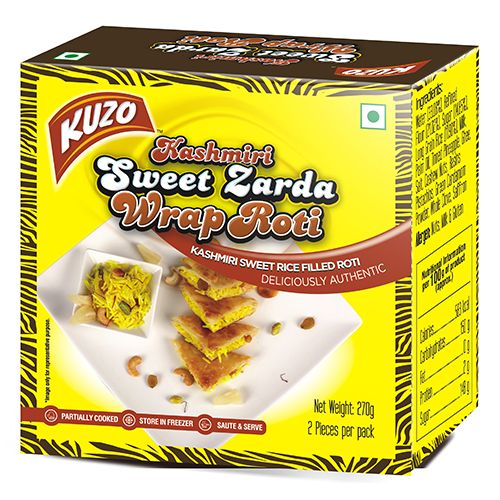 KUZO Wrap Roti - Kashmiri Sweet Zarda, 270 gm