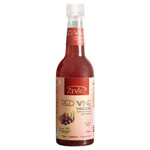 Zevic Vinegar - Red Wine, With Mother, 500 ml