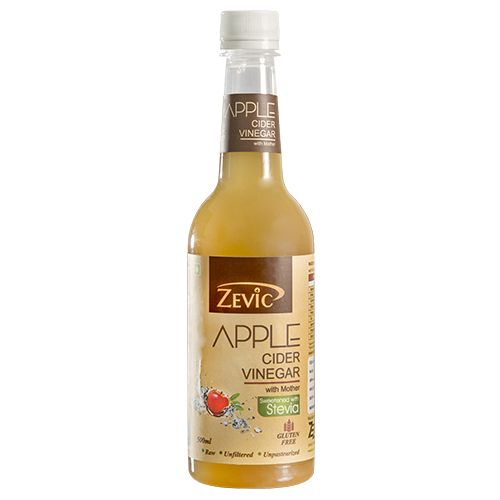 Zevic Vinegar - Apple Cider, With Mother & Stevia, 500 ml