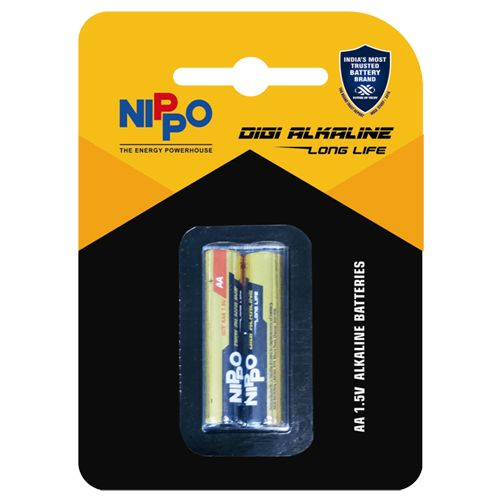 Nippo Batteries - AA, Alkaline, 2 pcs