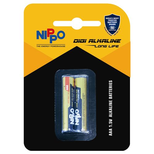 Nippo Batteries - AAA, Alkaline, 2 pcs