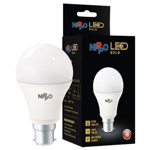 Nippo LED Bulb - 7 W, Cool Daylight, B22 Base, 1 pc