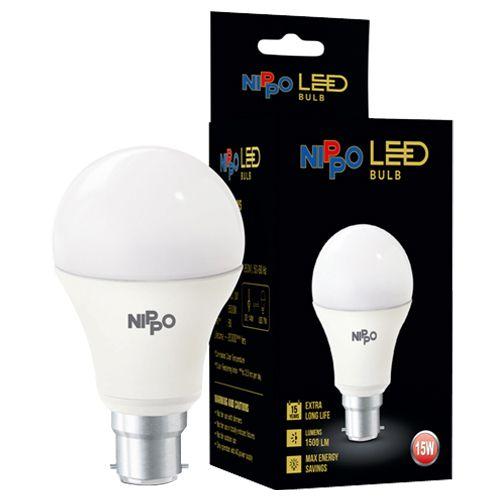 Nippo LED Bulb - 15 W, Cool Daylight, B22 Base, 1 pc