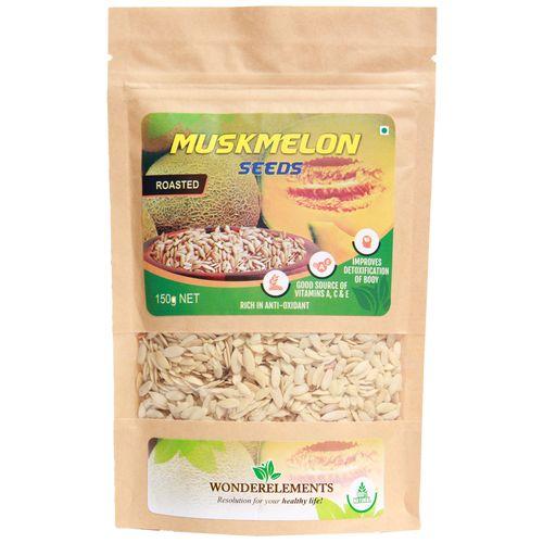 Wonderelements Muskmelon Seeds - Roasted, 150 g