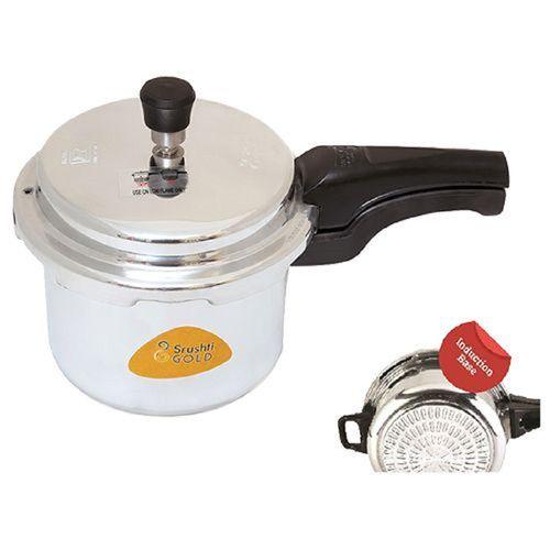 Srushti Gold Pressure Cooker - Aluminium, Outer Lid, Induction Base, 2 ltr