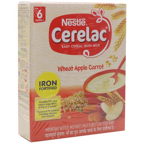 Nestle  Cerelac Baby Cereal - Wheat Apple Carrot, 6 months +, 300 gm