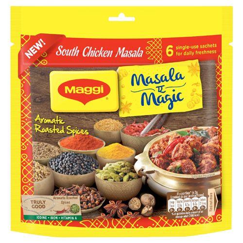 MAGGI  South Chicken Masala - Masala-ae-Magic, Share Bag, 36 gm Pack of 6