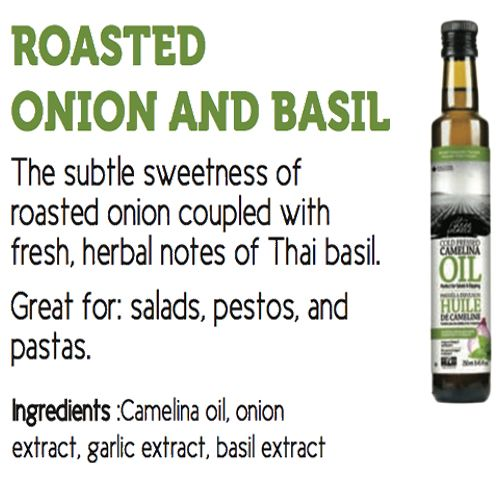 Three Farmers Camelina Oil Roasted Onion & Basil 250g, Cold Pressed,from Canada, 250 ml