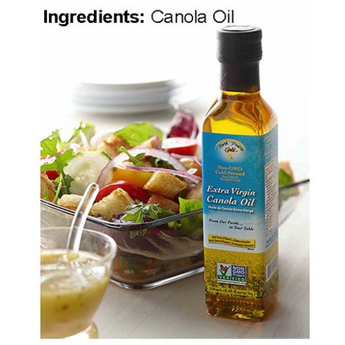 NORTH PRAIRIE GOLD Extra Virgin Canola Oil, 500ml, Cold Pressed, Fully Produced & Packed in Canada, 500 ml