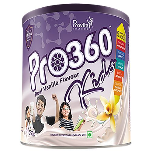 Pro360 Nutritional Beverage Mix - For Kids, Vanilla Flavour, 250 g