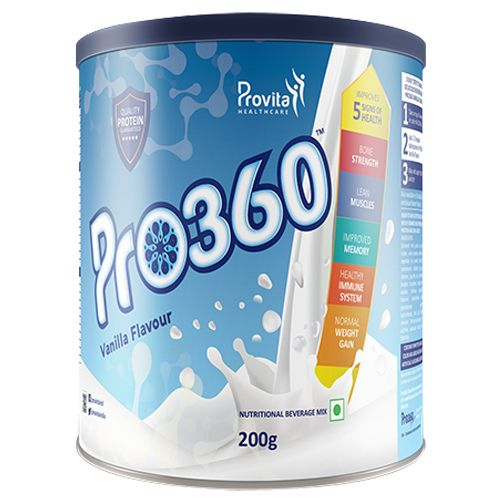 Pro360 Nutritional Beverage Mix - Vanilla Flavour, 200 g