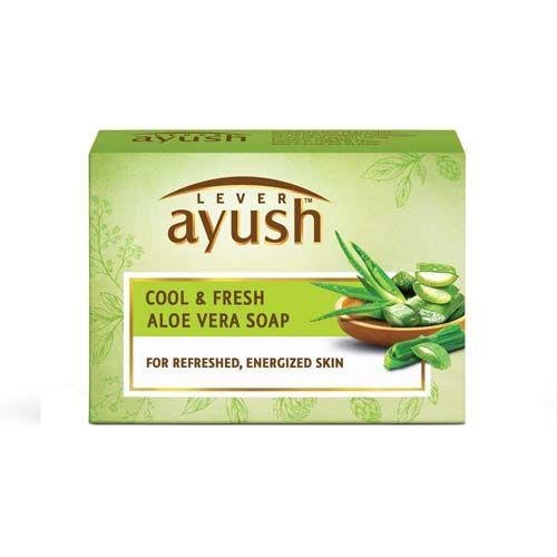 Lever Ayush Cool & Natural Ayurvedic Fresh Aloe Vera Soap, 100 g