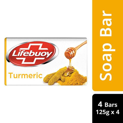 Lifebuoy Soap - Turmeric, 100% Skin Protection, 125 gm Pack of 4