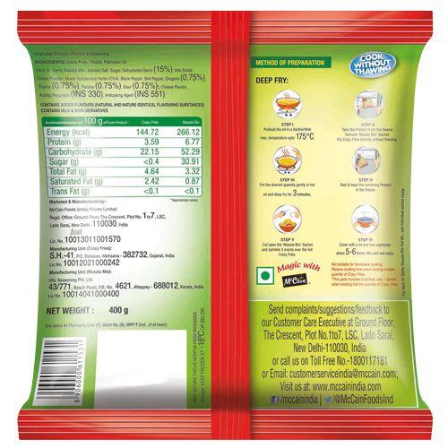 McCain Crazy Fries - Masala Mix, Herb 'n' Garlic, 400 gm