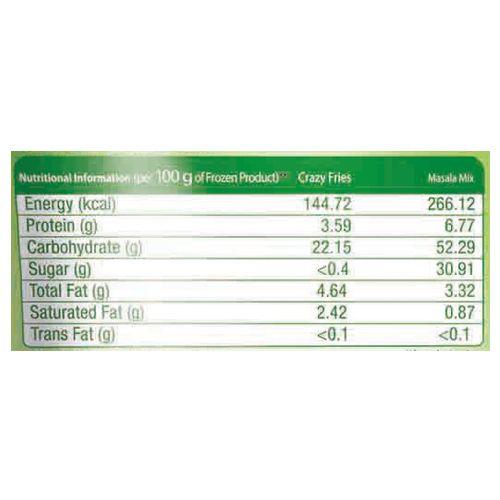 McCain Crazy Fries - Masala Mix, Herb 'n' Garlic, 175 gm