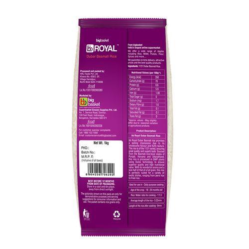 bb Royal Basmati Rice - 1121, Dubar, 1 kg
