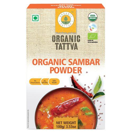 Organic Tattva Organic - Sambar Powder, 100 gm