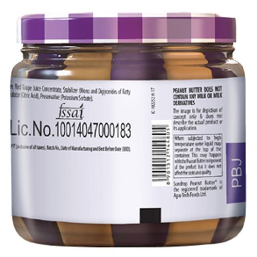 Sundrop Peanut Butter With Jelly - Grape, 340 gm