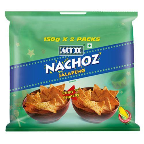 ACT II Nachoz - Jalapeno, 150 gm Pack of 2