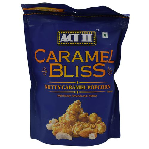 ACT II Caramel Bliss - Nutty Caramel, Resealable Pack, 80 g