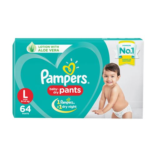 Pampers  Diapers Pants - Large Size, New, 64's pack