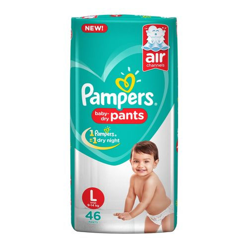 Pampers  Diapers Pants - Large Size, New, 44's pack