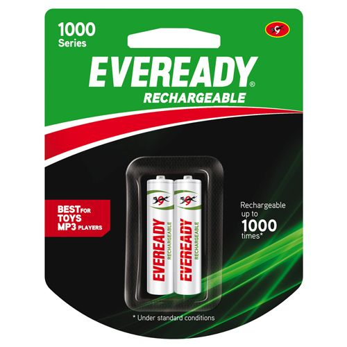 Eveready Rechargeable AAA Battery BP2 600 Nimh, 1 pc