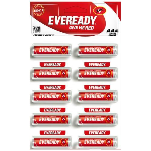 Eveready Carbon Zinc Battery Red Hd AAA 1012, 10 pcs