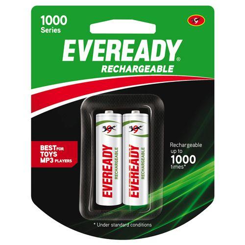 Eveready Rechargeable AA Battery BP2 700 Nimh, 2 pcs