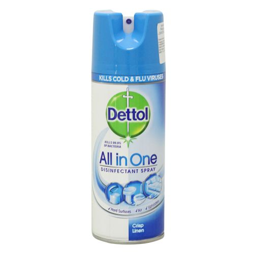 Dettol All In One Disinfectant Spray - Crisp Linen, Imported, 400 ml