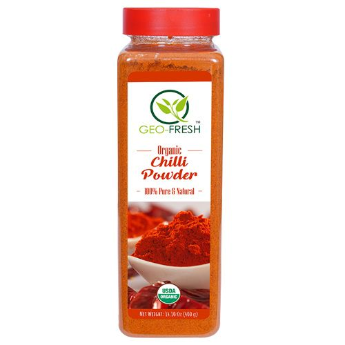Geo-Fresh Powder - Organic, Chilli, USDA Certified, 400 gm 400gm