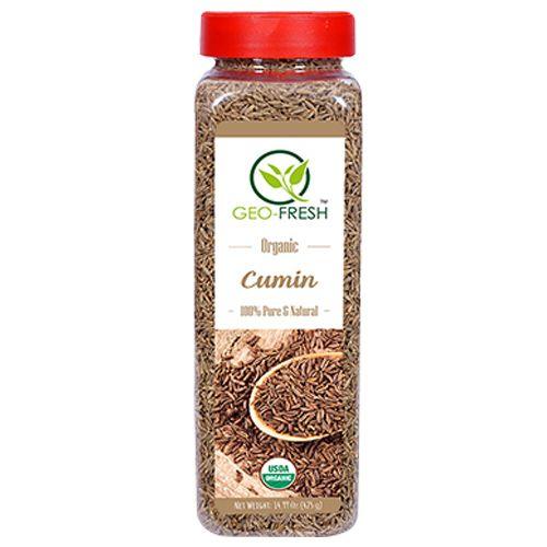 Geo-Fresh Cumin Whole - Organic, USDA Certified, 425 gm 425gm